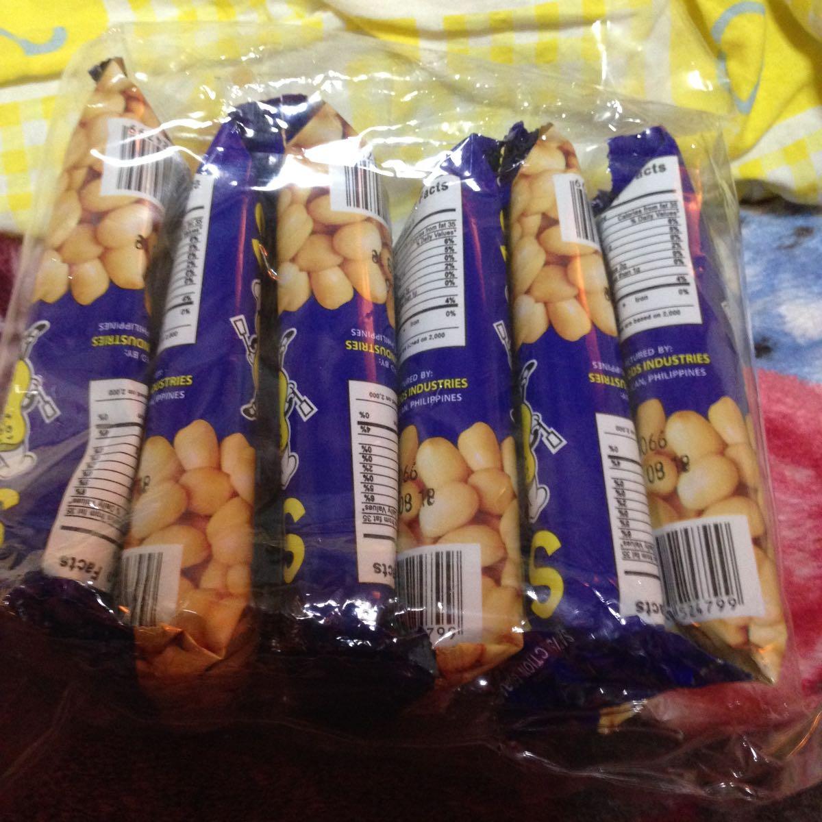 フィリピン おつまみ菓子 SUGO SALTED PEANUTS 6p入り お得!(◎_◎;)_画像3