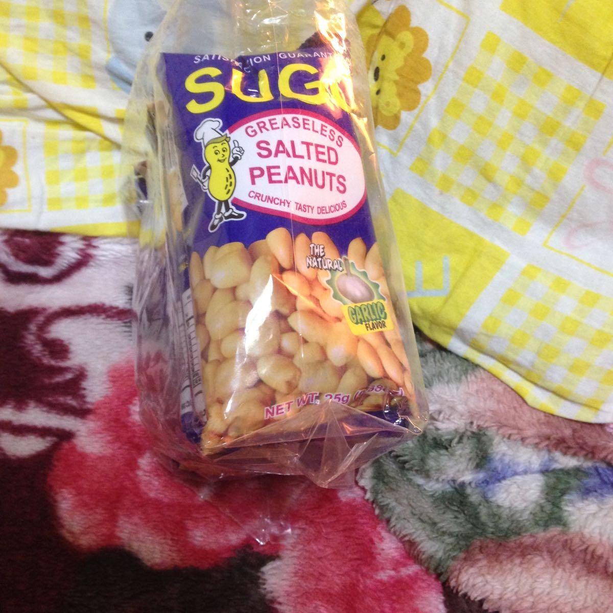 フィリピン おつまみ菓子 SUGO SALTED PEANUTS 6p入り お得!(◎_◎;)