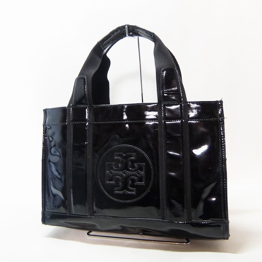 トリーバーチ ハンドバッグ エナメル ブラック k701