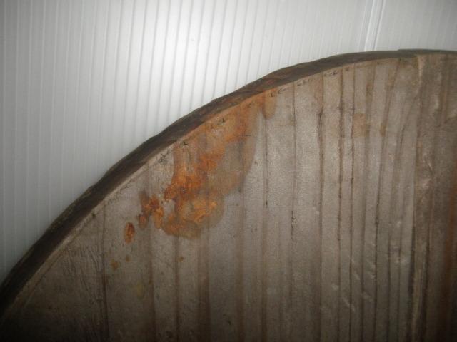 @ 昭和レトロ 桶 桶の底板 花台 木工 古民具 レトロ インテリア 雑貨 和風インテリア_汚れ有