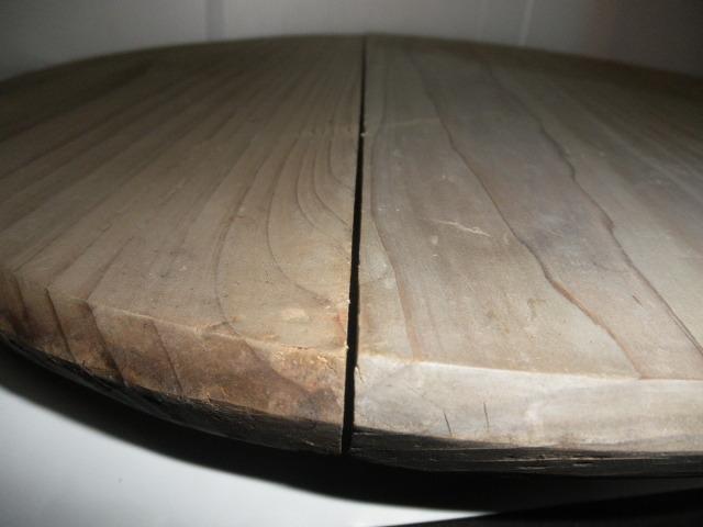@ 昭和レトロ 桶 桶の底板 花台 木工 古民具 レトロ インテリア 雑貨 和風インテリア_すき間あり