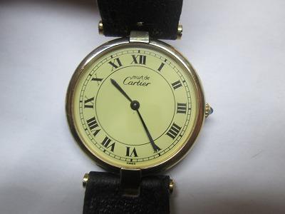 カルティエ マスト ヴェルメイユ アイボリー メンズ 腕時計 ジャンク