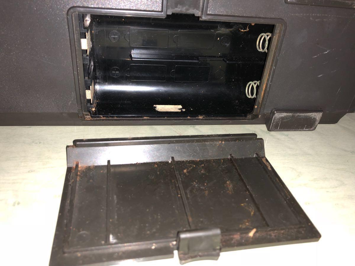 希少 通電可 カバー有り SONY カセット スカイセンサーCF-5950 ジャンク品 アンティーク ヴィンテージ 昭和レトロ ラジカセ ラジオ ソニー_画像9