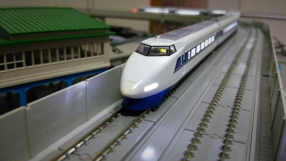 ★全車両フルLED化 美品★ TOMIX 92624 JR100系東海道・山陽新幹線7両 低速時からLED室内灯点灯