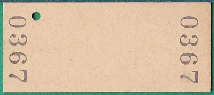 鉄道硬券切符129■普通入場券 沼牛駅 100円 55-11.13_画像2