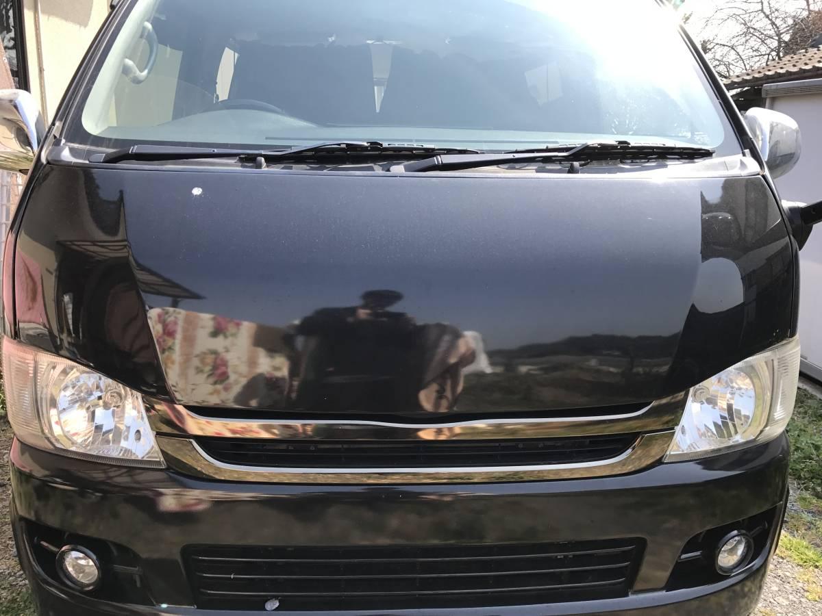 200系 ハイエース ボクシースタイル 標準ボディ用 塗装済 209 ブラック ボンネット