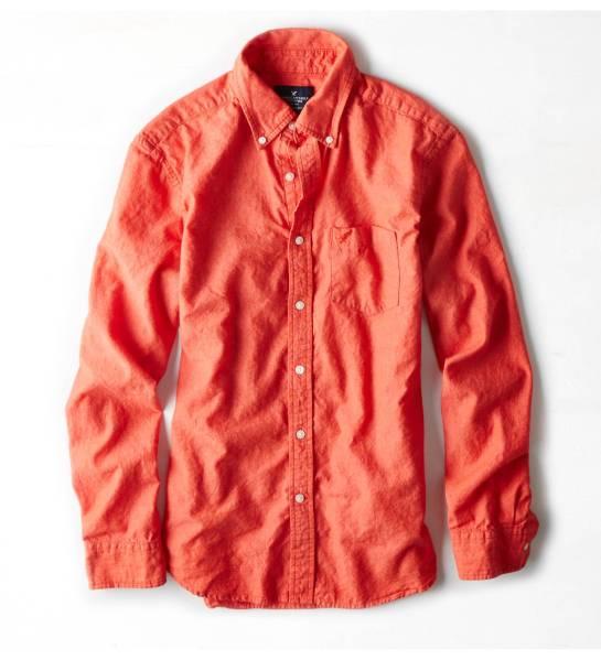 AE アメリカンイーグル men's コットンリネンシャツ size XS_画像1