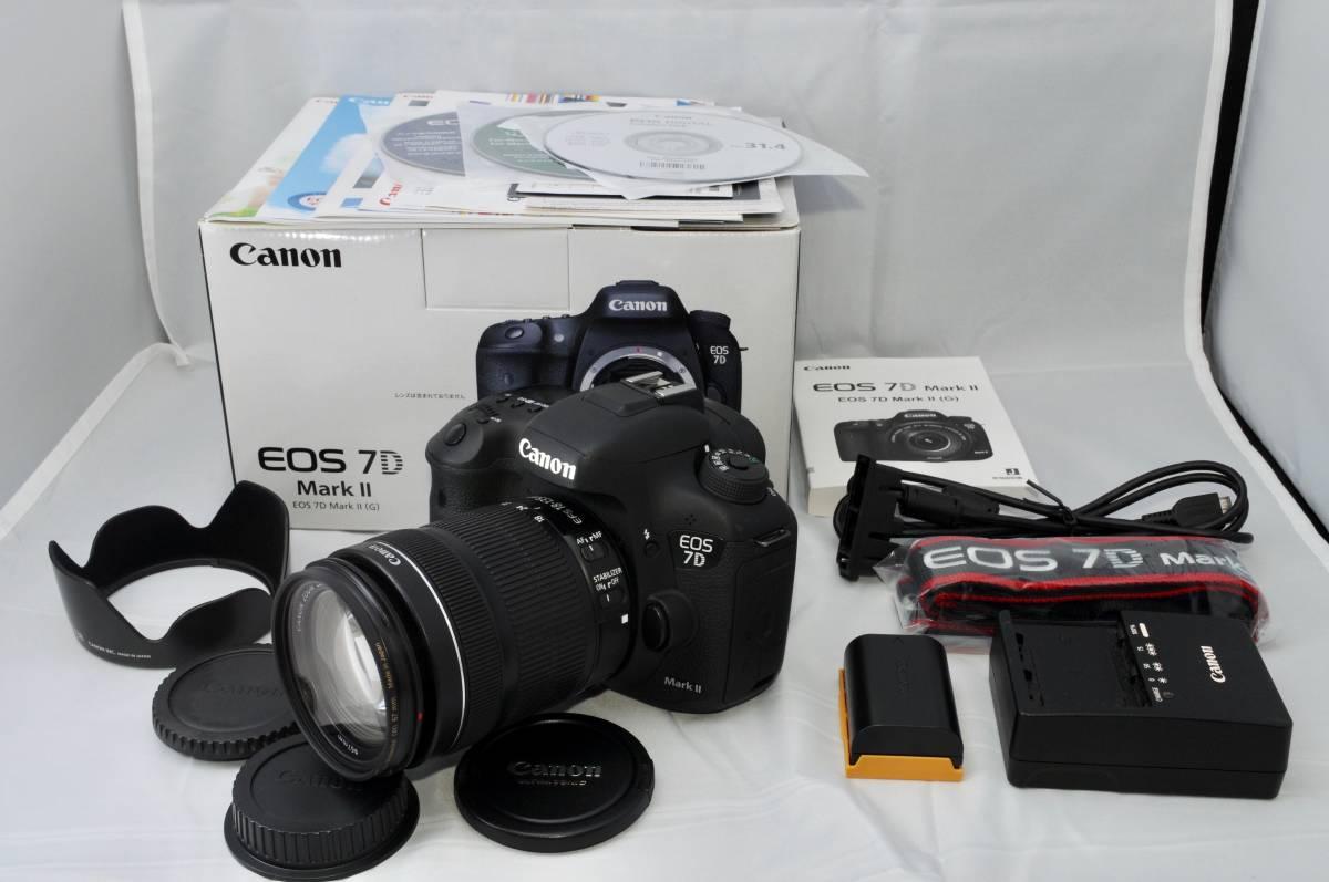 ★超極上★ Canon キャノン EOS 7D Mark II EF-S 18-135mm F3.5-5.6 IS STM レンズセット!! ★元箱付き