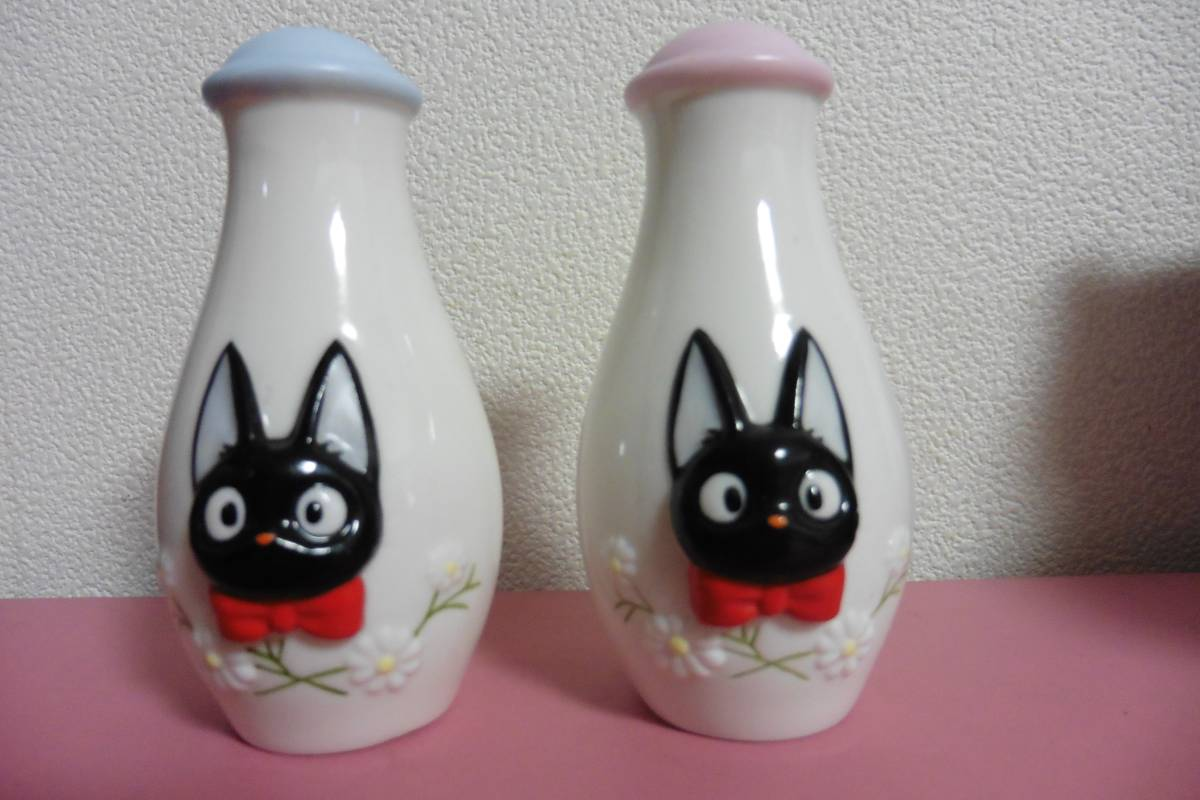 魔女の宅急便 黒猫ジジ 塩胡椒入れ ソルト&ペッパー 陶器製