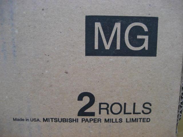 ★MITSUBISHI カラーペーパー GLOSSY 幅12.7㎝×186m ★2個 ★未使用品_画像5