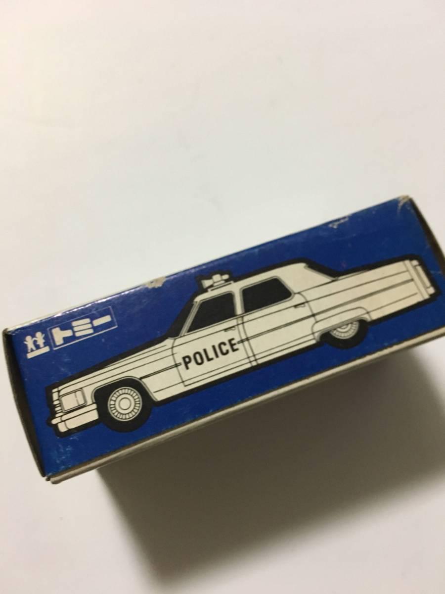 tomica トミカ 青箱(箱のみ)F51 外国車シリーズ キャデラック ポリスカー アメリカ車 空箱_画像4