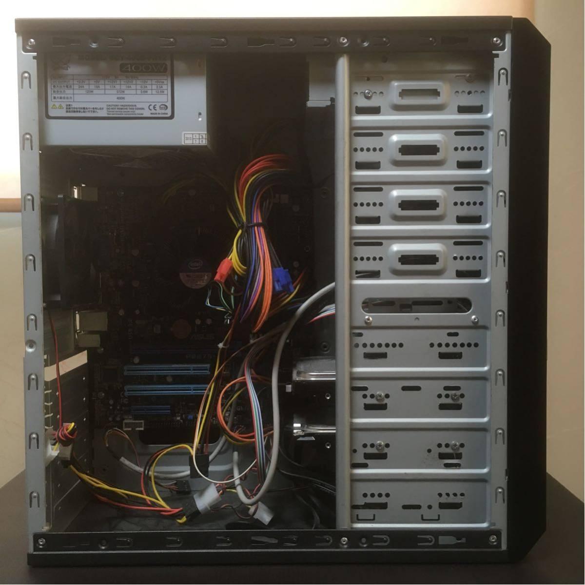 【美品】自作PC/デスクトップパソコン Intel Core i7-3770/8GB/HDD:500GB+1TB/Windows7 Pro/P8B75-M/BD-ROM/DVDスーパーマルチ 動作確認済_画像5
