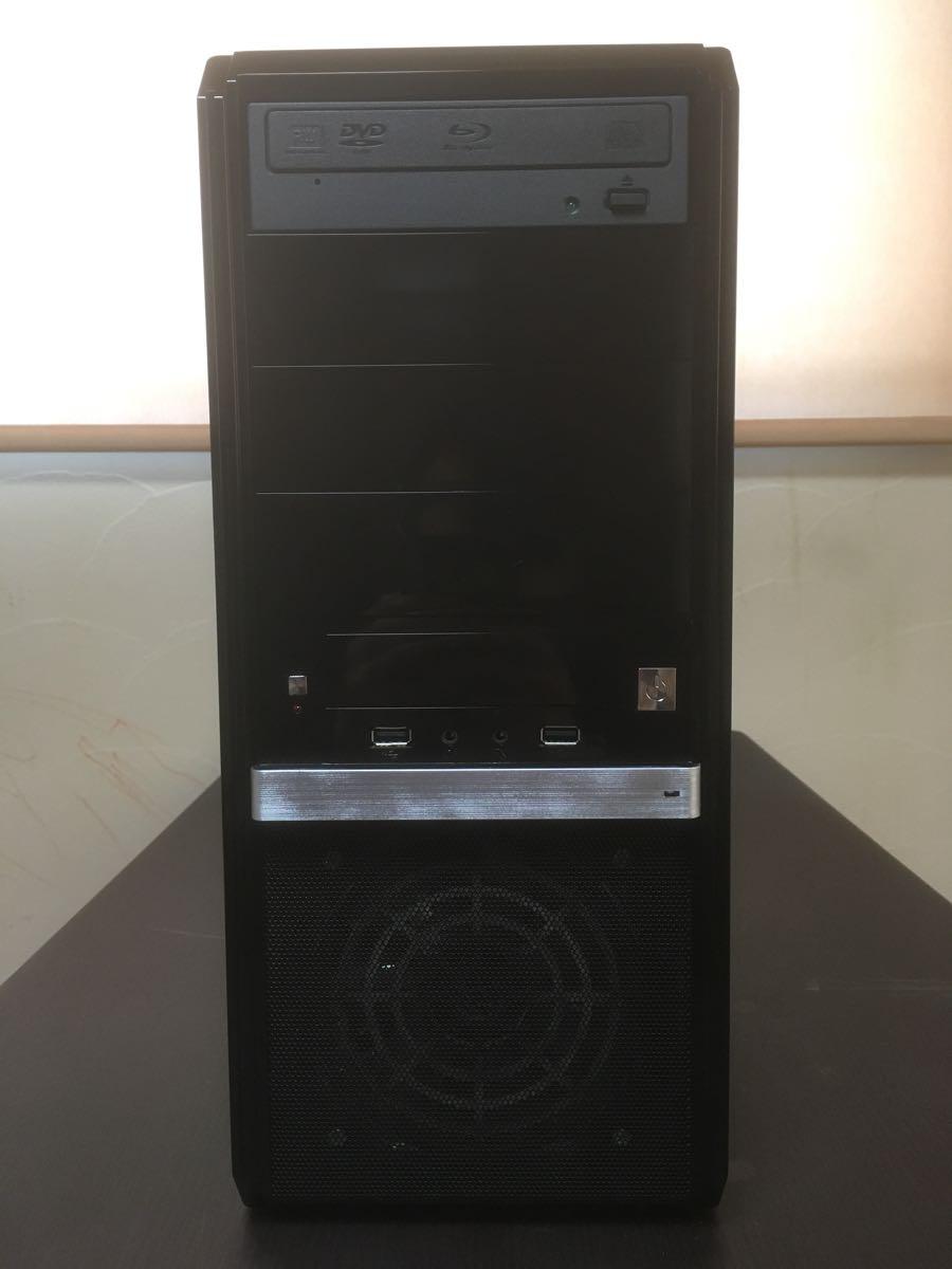 【美品】自作PC/デスクトップパソコン Intel Core i7-3770/8GB/HDD:500GB+1TB/Windows7 Pro/P8B75-M/BD-ROM/DVDスーパーマルチ 動作確認済