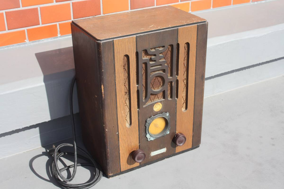 縦型管球式ラジオ(ジャンク)_画像2