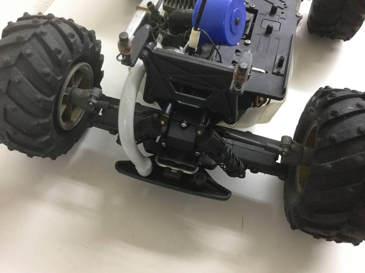 タミヤ TGM10 マッド バイソン 1/10 エンジン ラジコン プロポ付 ジャンク品_画像6