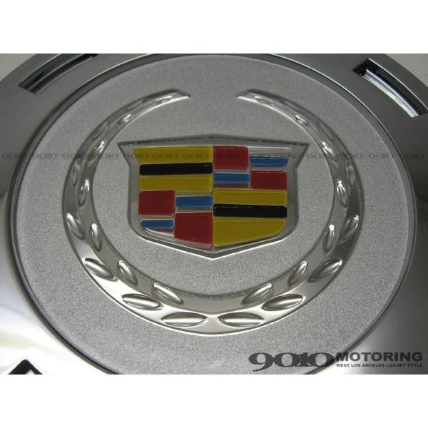 07-13y 純正ホイール用 キャデラック カラークレスト 4枚セット 22インチ用 エスカレード センターキャップ 純正タイプ