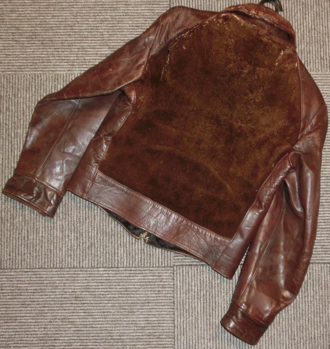 希少ビンテージ30s40sハトメ30年代40年代グリズリージャケット熊ジャン 当時物チンスト付きオリジナル馬革ホースハイド/ホースレザー1930s_画像9
