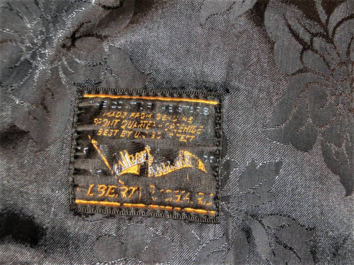 希少ビンテージ30s40sハトメ30年代40年代グリズリージャケット熊ジャン 当時物チンスト付きオリジナル馬革ホースハイド/ホースレザー1930s_画像4