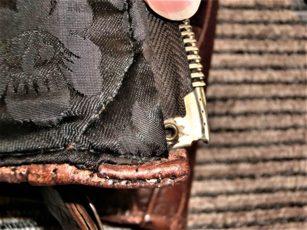 希少ビンテージ30s40sハトメ30年代40年代グリズリージャケット熊ジャン 当時物チンスト付きオリジナル馬革ホースハイド/ホースレザー1930s_画像6