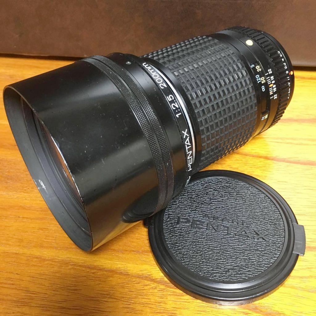 ペンタックス カメラレンズ SMC PENTAX 1:2.5 200mm 単焦点望遠レンズ 一眼カメラ用 レンズ カメラ