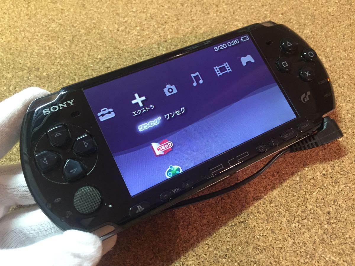 1円スタート SONY ソニー PSP3000 グランツーリスモ限定 黒 中古品_画像3