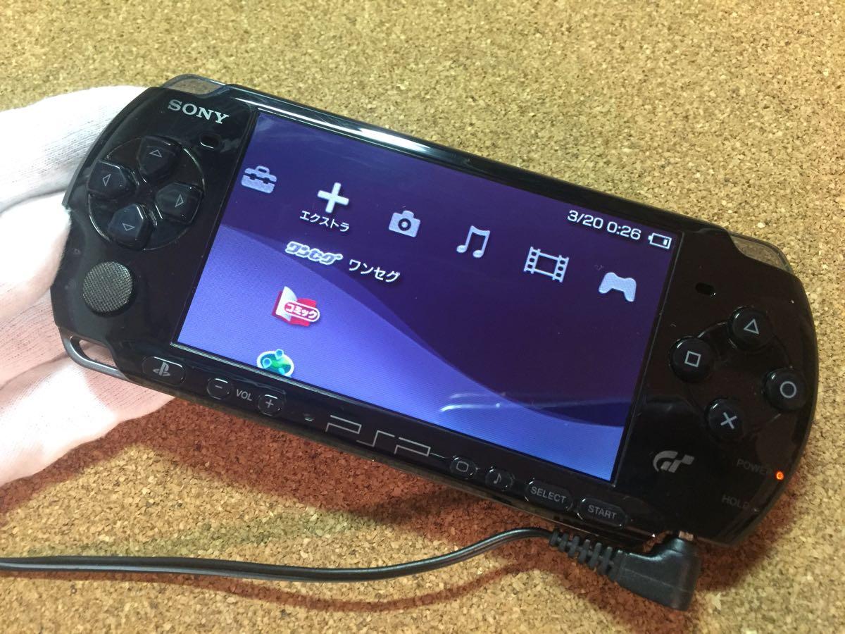 1円スタート SONY ソニー PSP3000 グランツーリスモ限定 黒 中古品