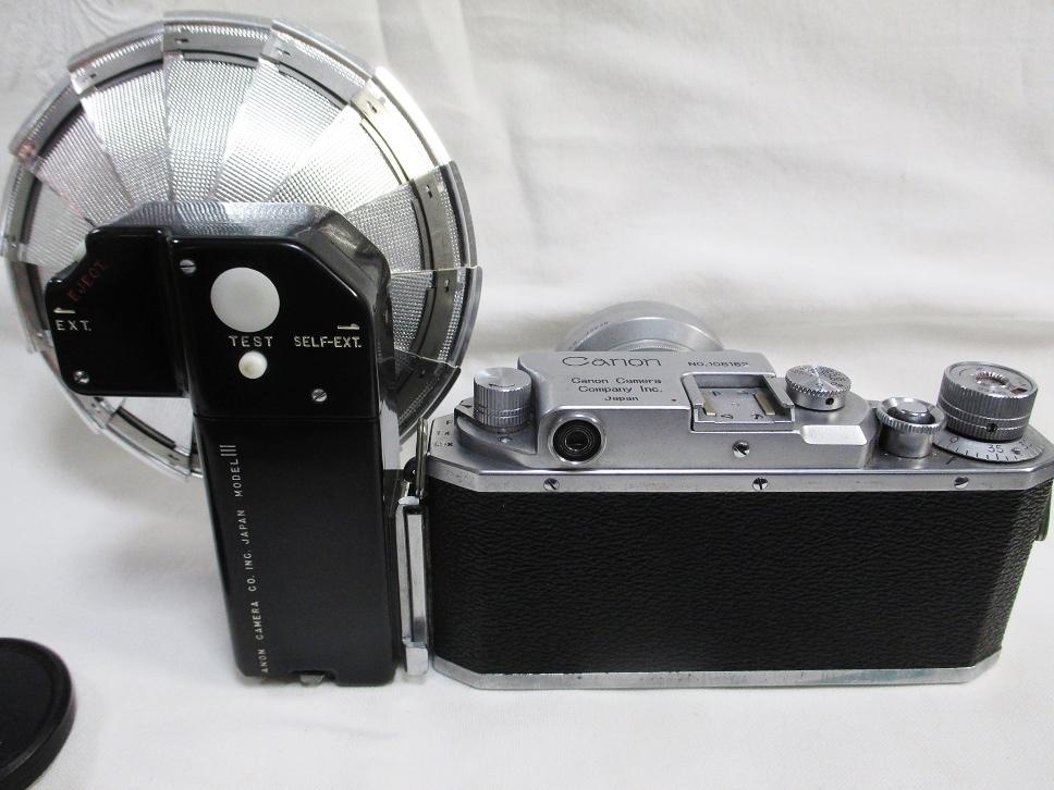 キヤノンⅣSb改 50ミリ F1.8付/108162 フラッシュ等付属・概ね美品かと です。_画像8