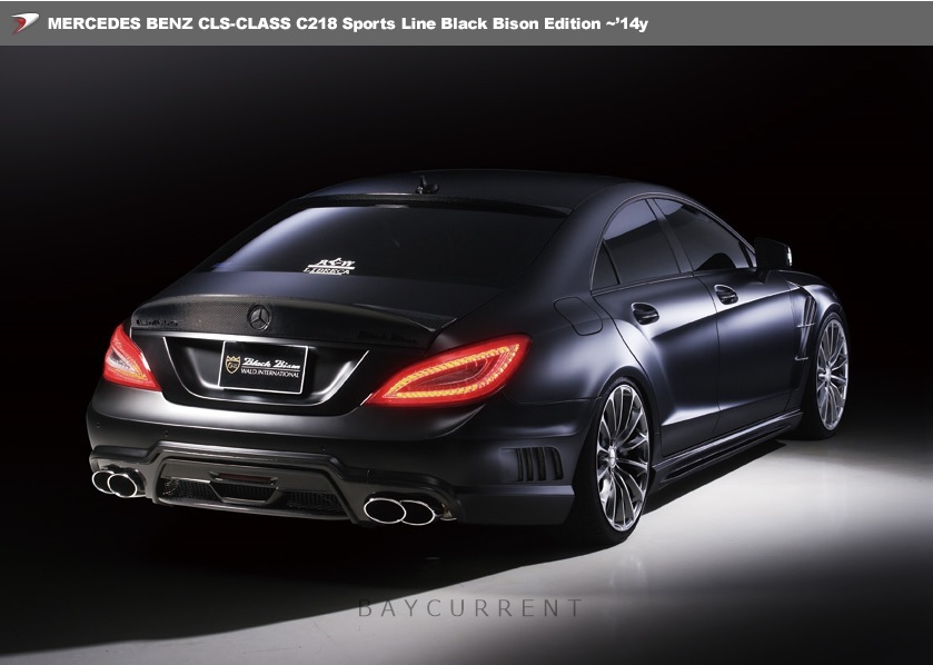 【 WALD BlackBison Edtion 】 Mercedes-Benz W218 C218 CLSクラス FRP製 トランクスポイラー ブラックバイソン 2011y~2014y CLS350 CLS550_画像3
