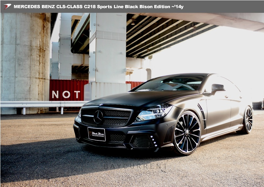【 WALD BlackBison Edtion 】 Mercedes-Benz W218 C218 CLSクラス FRP製 トランクスポイラー ブラックバイソン 2011y~2014y CLS350 CLS550_画像6