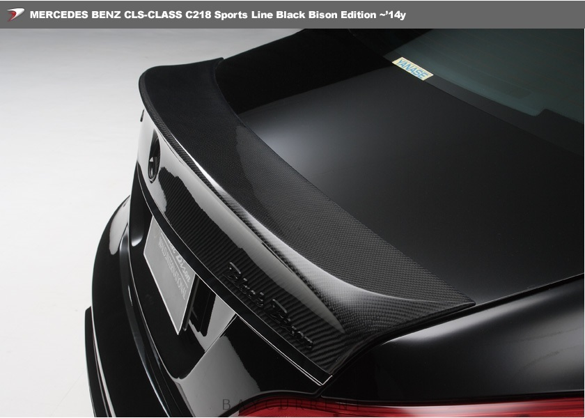 【 WALD BlackBison Edtion 】 Mercedes-Benz W218 C218 CLSクラス FRP製 トランクスポイラー ブラックバイソン 2011y~2014y CLS350 CLS550_画像2