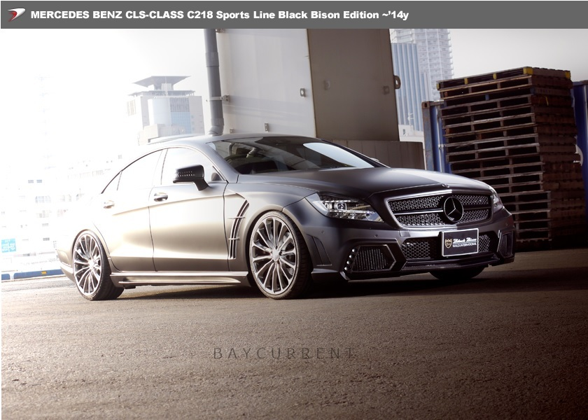【 WALD BlackBison Edtion 】 Mercedes-Benz W218 C218 CLSクラス FRP製 トランクスポイラー ブラックバイソン 2011y~2014y CLS350 CLS550_画像5
