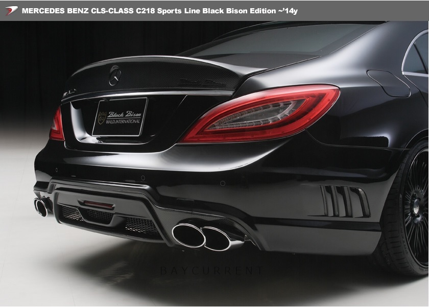 【 WALD BlackBison Edtion 】 Mercedes-Benz W218 C218 CLSクラス FRP製 トランクスポイラー ブラックバイソン 2011y~2014y CLS350 CLS550_安心の正規品