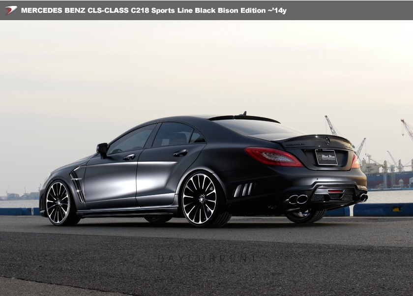 【 WALD BlackBison Edtion 】 Mercedes-Benz W218 C218 CLSクラス FRP製 トランクスポイラー ブラックバイソン 2011y~2014y CLS350 CLS550_画像4