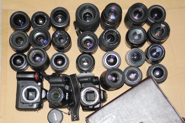 Canon Nikon Pentax SONY CANON カメラ レンズ  単焦点レンズ たくさん 大量 まとめ セット 複数台