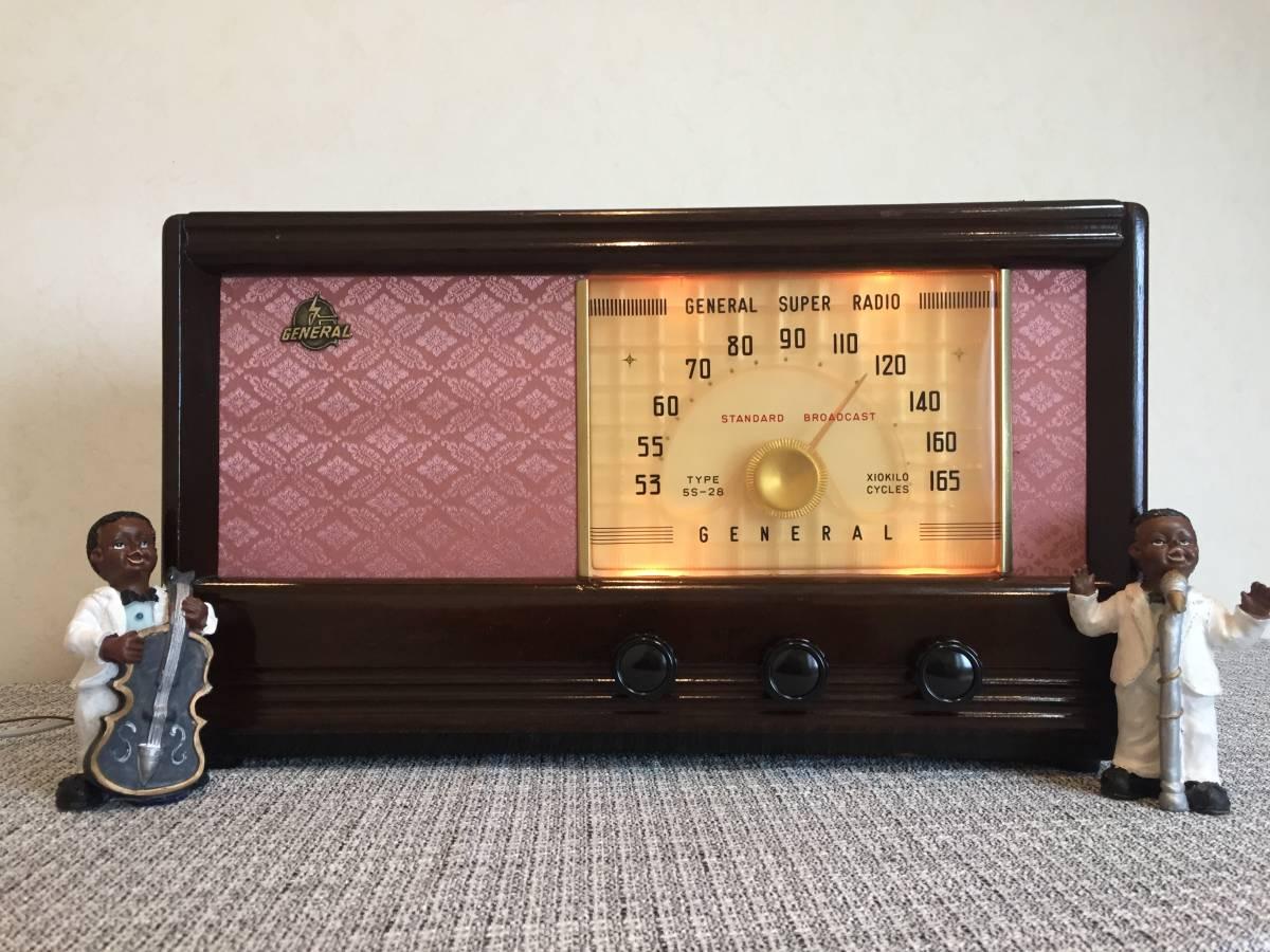 昭和の記憶 ゼネラル真空管ラジオ 5球スーパー 5S-28 整備品_画像5