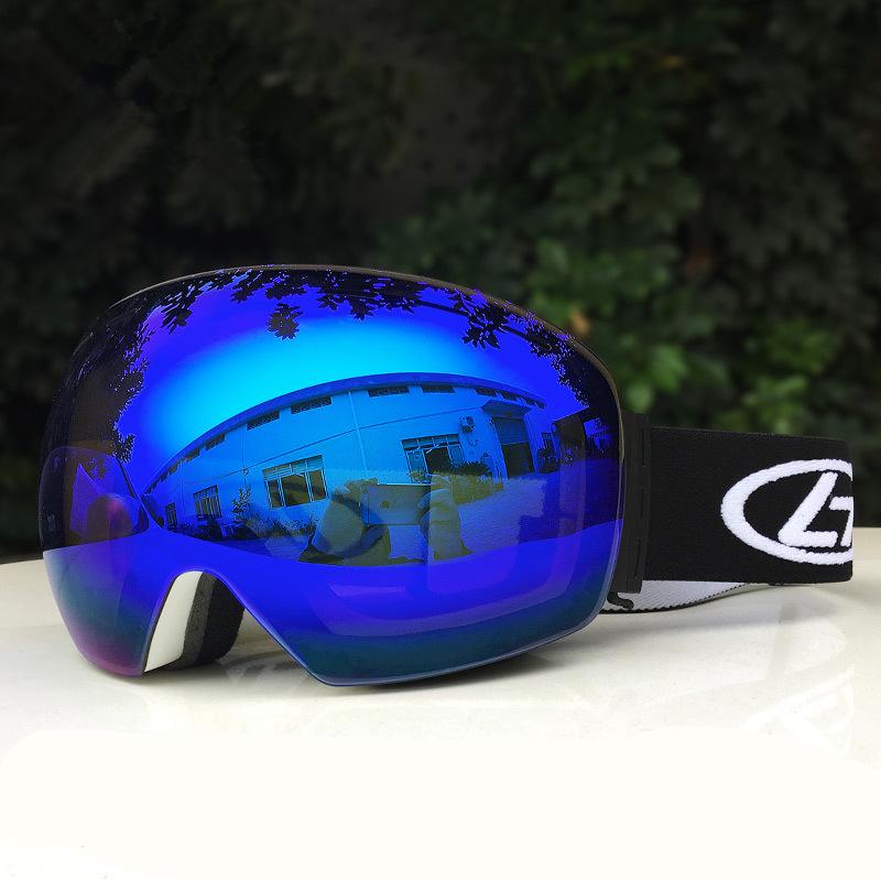 スキー スノーボード スケート アウトドア ゴーグル ダブルレンズ 袋 付き 防塵 防風 UV モトクロス revo 球面 登山 新品 その他 2_画像1
