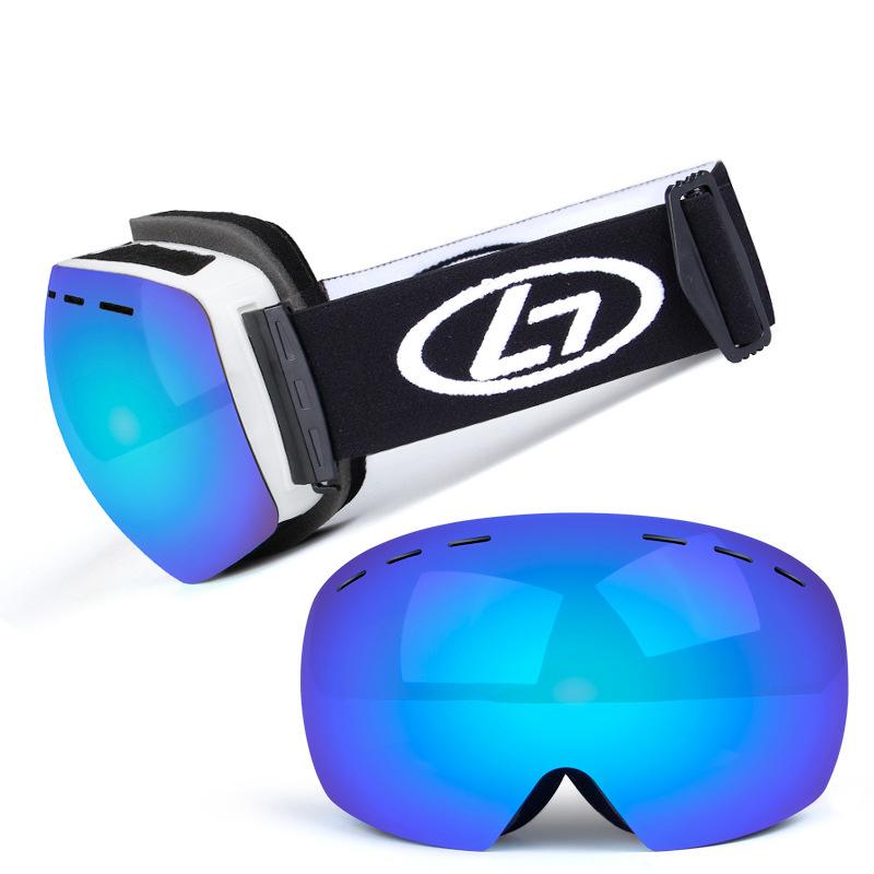 スキー スノーボード スケート アウトドア ゴーグル ダブルレンズ 袋 付き 防塵 防風 UV モトクロス revo 球面 登山 新品 その他 2_画像2