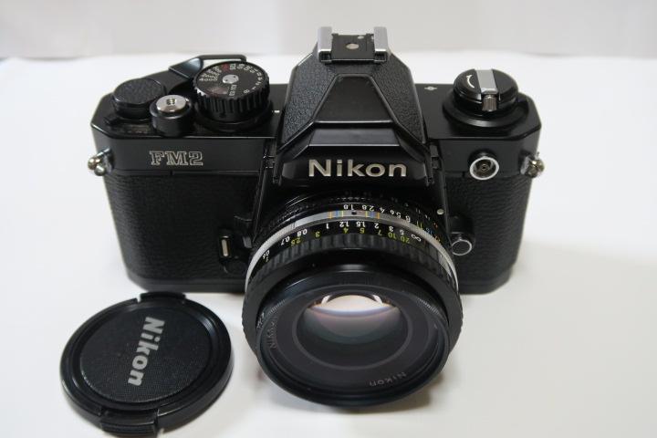 ★★美品Nikon ニコン New FM2ブラック50mmF1,8レンズ付き★★