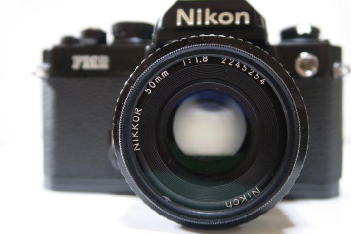 ★★美品Nikon ニコン New FM2ブラック50mmF1,8レンズ付き★★_画像7