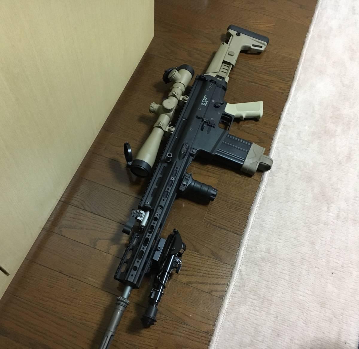 WE SCAR H スナイパーライフル フルカスタム 豪華付属品多数 M14 M4 MK17 SCAR L スカー_画像4