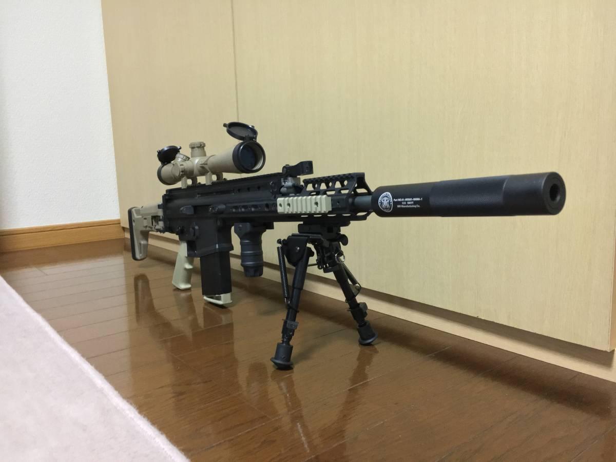 WE SCAR H スナイパーライフル フルカスタム 豪華付属品多数 M14 M4 MK17 SCAR L スカー_画像2