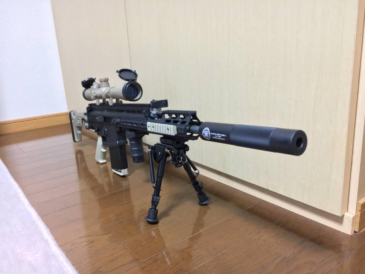 WE SCAR H スナイパーライフル フルカスタム 豪華付属品多数 M14 M4 MK17 SCAR L スカー_画像7