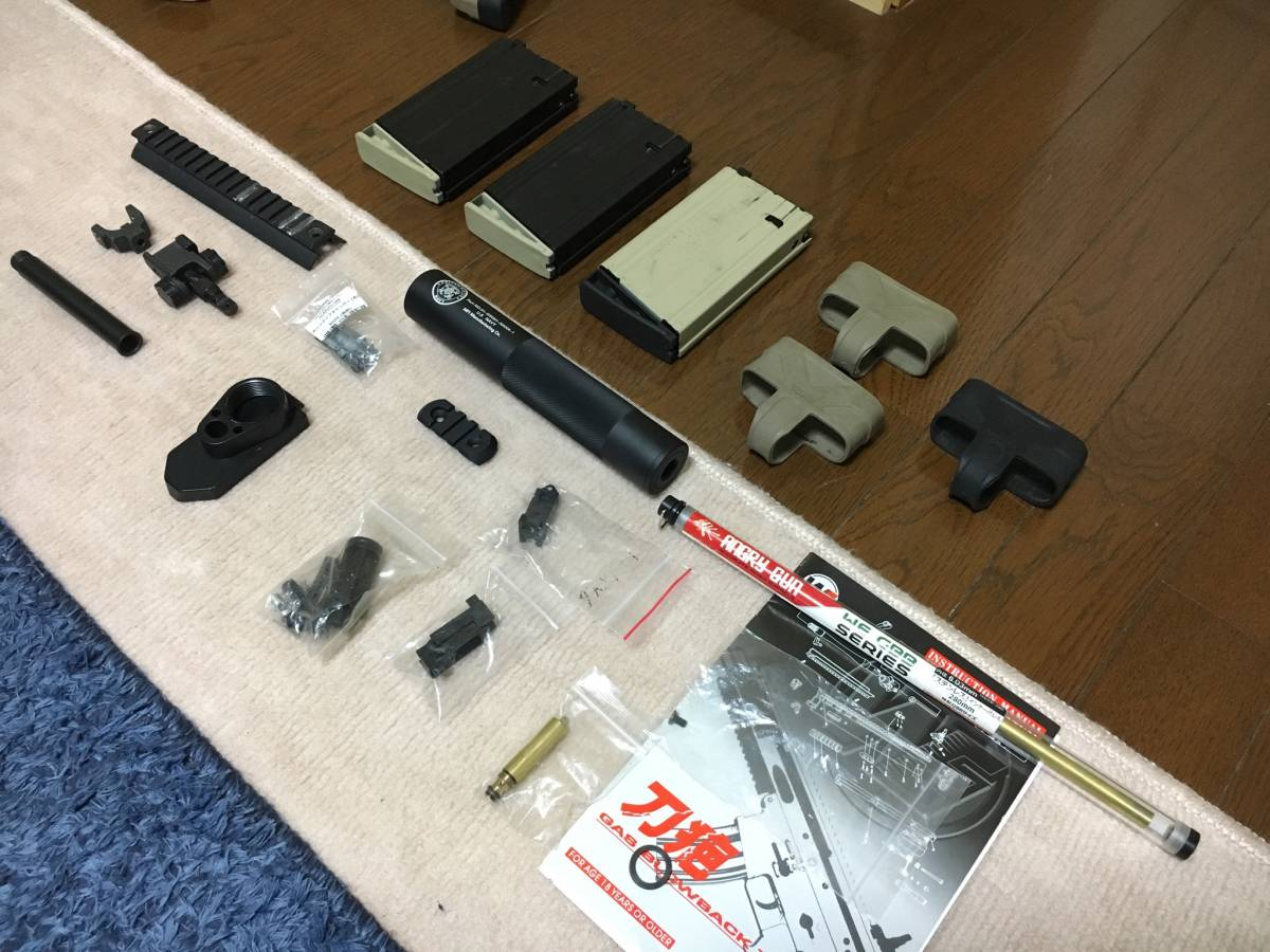 WE SCAR H スナイパーライフル フルカスタム 豪華付属品多数 M14 M4 MK17 SCAR L スカー_画像6