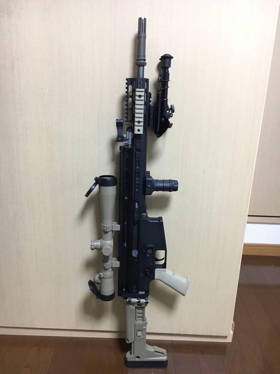 WE SCAR H スナイパーライフル フルカスタム 豪華付属品多数 M14 M4 MK17 SCAR L スカー_画像8