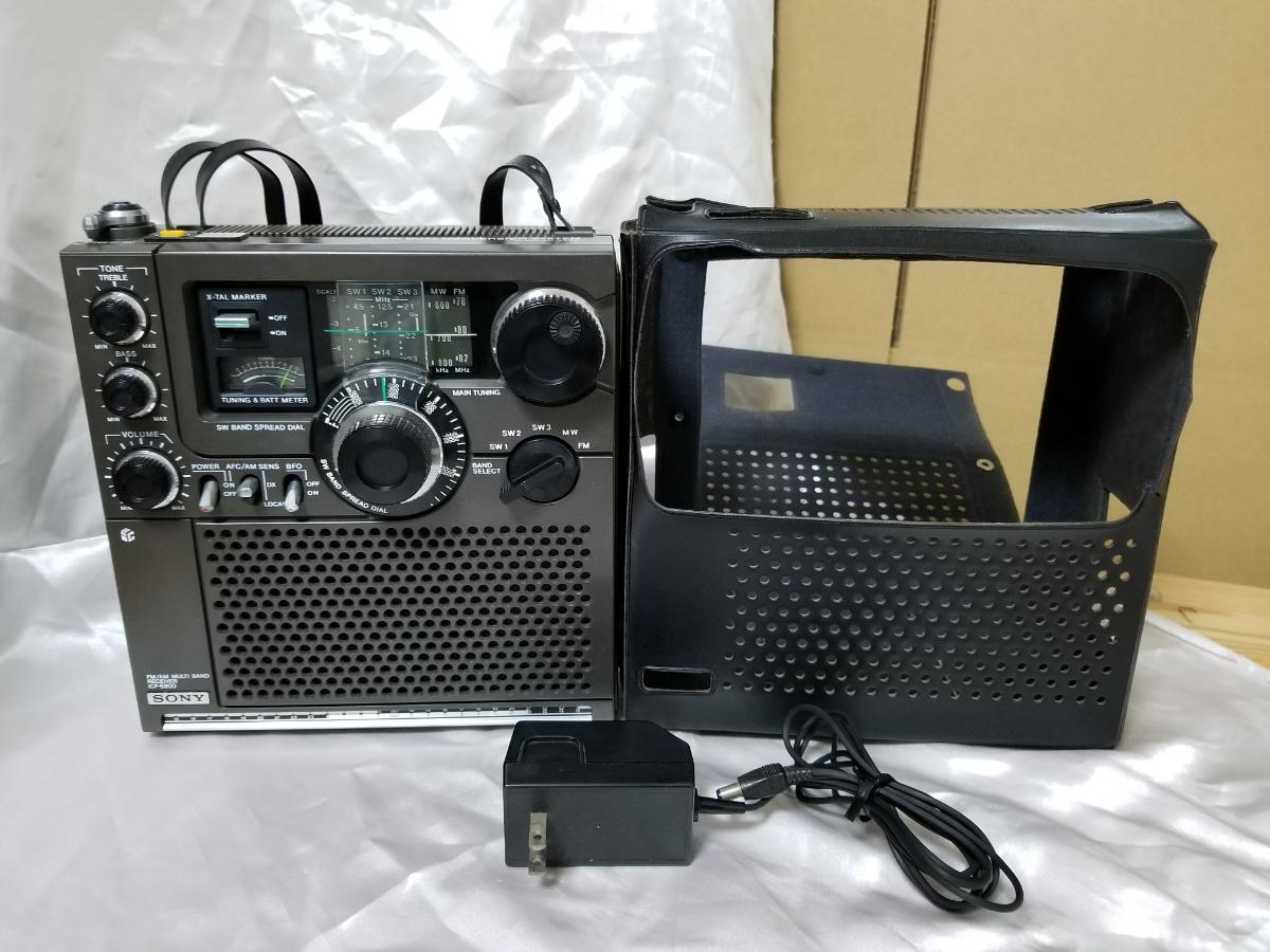 SONY スカイセンサー ICF-5900 カバー、アダプター付き ジャンク_画像10