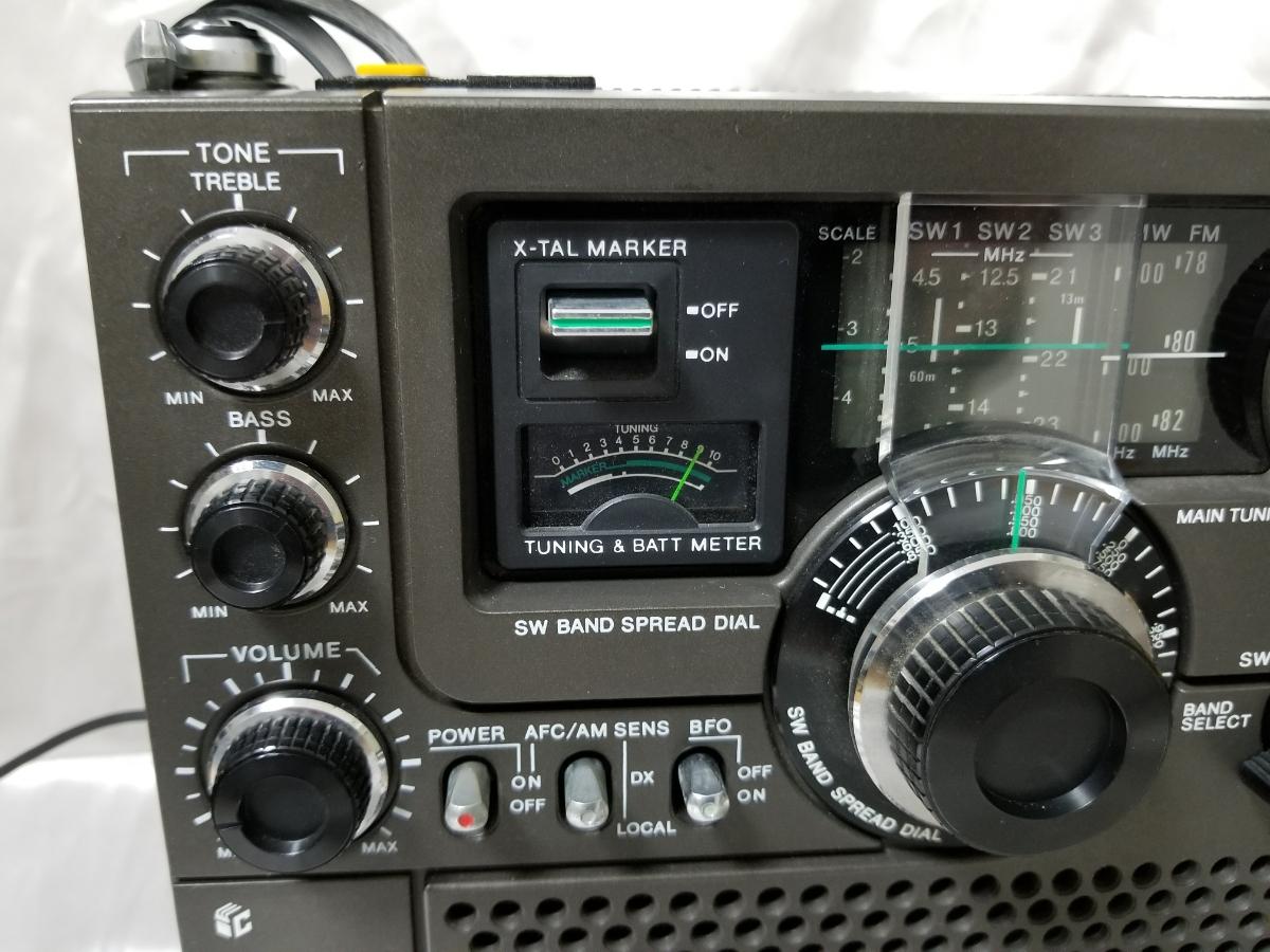 SONY スカイセンサー ICF-5900 カバー、アダプター付き ジャンク_画像4