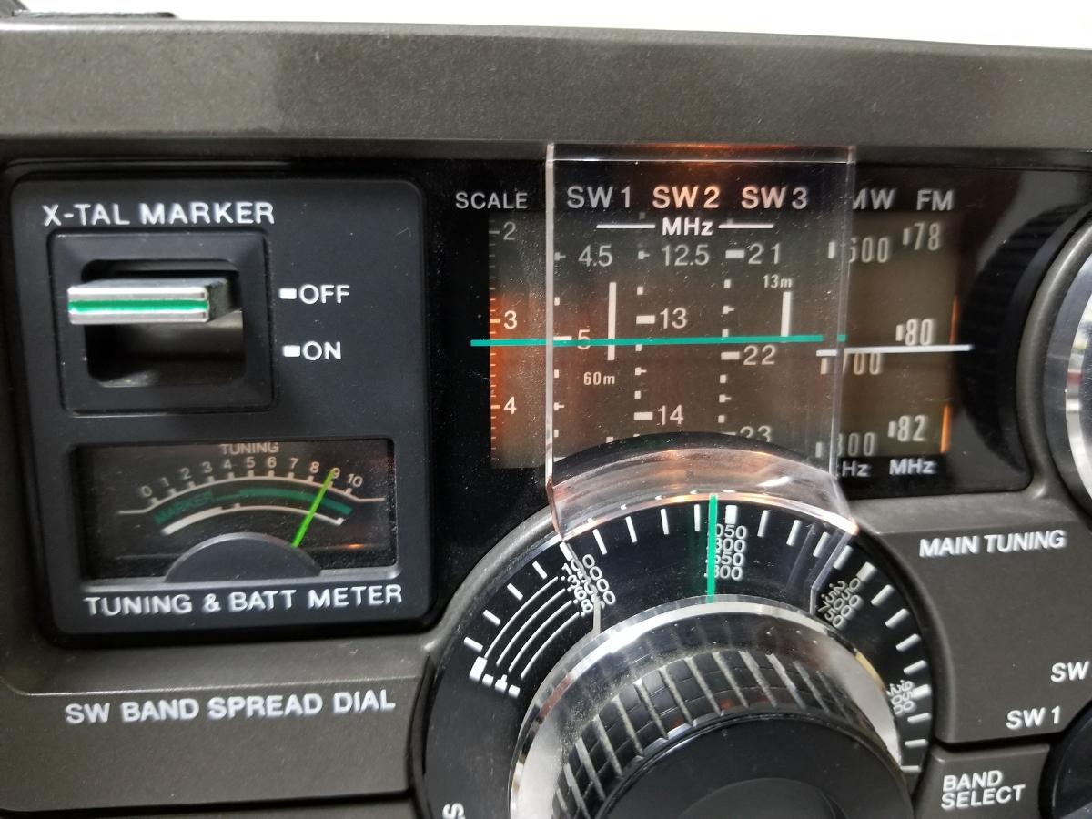 SONY スカイセンサー ICF-5900 カバー、アダプター付き ジャンク_画像3