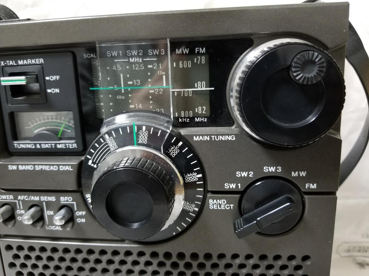 SONY スカイセンサー ICF-5900 カバー、アダプター付き ジャンク_画像5