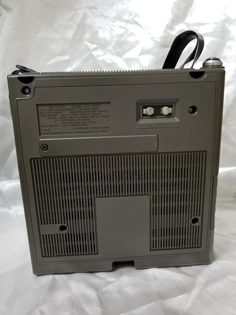 SONY スカイセンサー ICF-5900 カバー、アダプター付き ジャンク_画像7