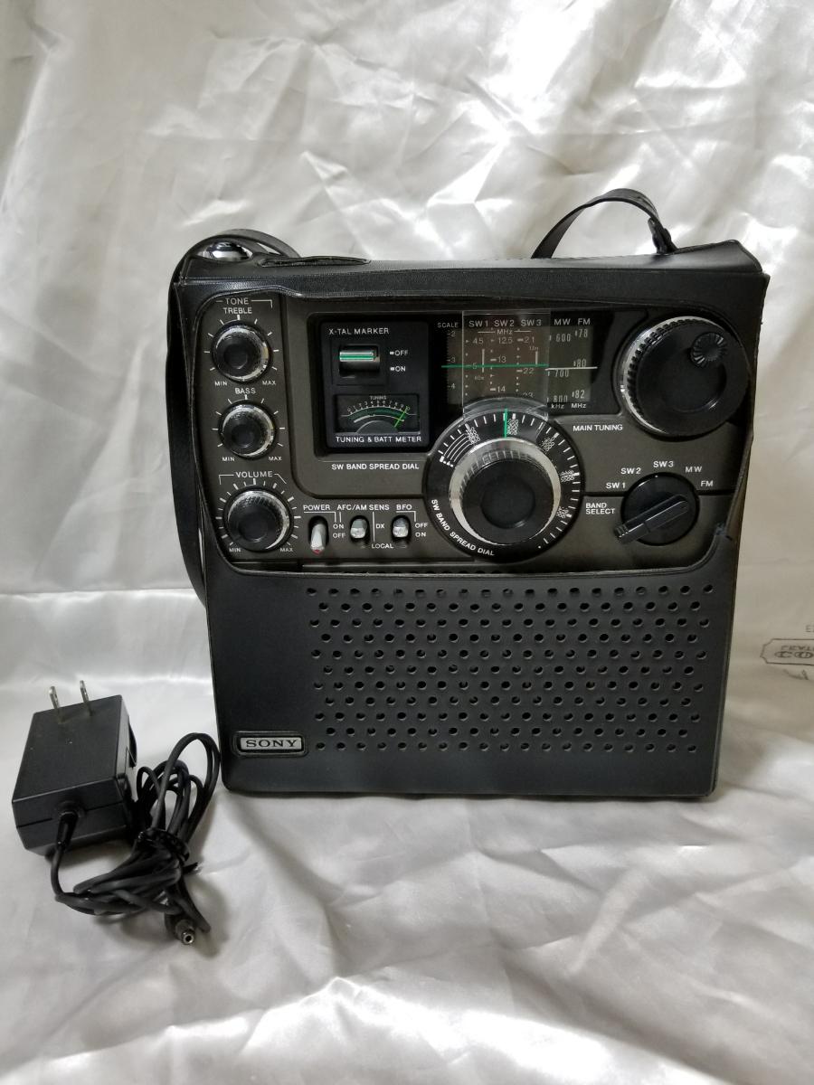 SONY スカイセンサー ICF-5900 カバー、アダプター付き ジャンク_画像2